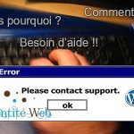 Maintenance WordPress site internet et boutique